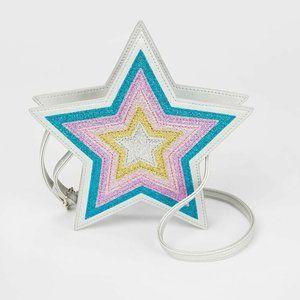 Kids Glitter Sparkle Adjustable Star Purse
